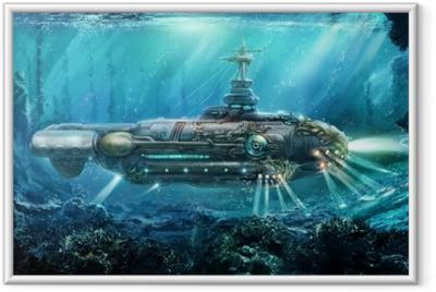 Gerahmtes Poster Fantastisches U-Boot