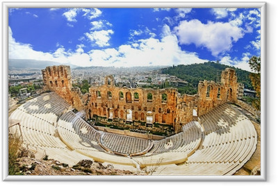 Poster i Ram Antika teatern i Akropolis Grekland, Athnes
