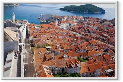 Od town city walls, Dubrovnik, Croatia Framed Poster
