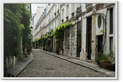 Poster en cadre Ruelle parisienne
