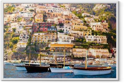 Plakat w ramie Positano, Wybrzeże Amalfi