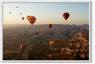 Balloons in Cappadocia, Turkey Framed Poster