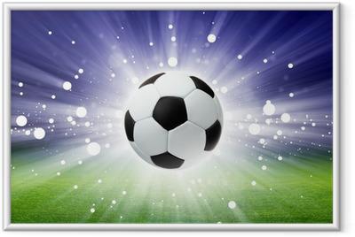 Soccer ball, stadium, light Framed Poster