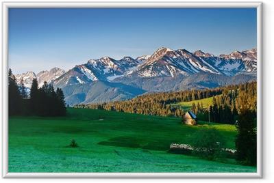 Poster i Ram Polska Tatrabergen panoram på morgonen