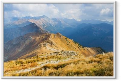 Innrammet plakat Czerwone Wierchy, Tatra-fjellene, Polen