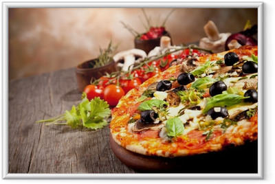 Frisk italiensk pizza Indrammet plakat