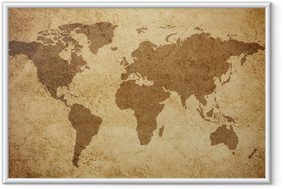 Poster i Ram Världskartan konsistens bakgrund