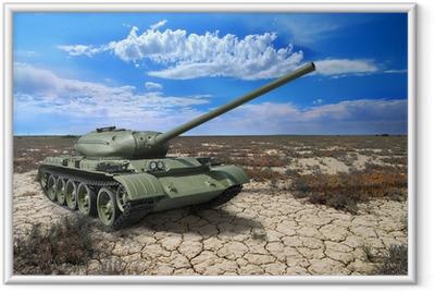 Sovjetank T-54 af 1946 år Indrammet plakat