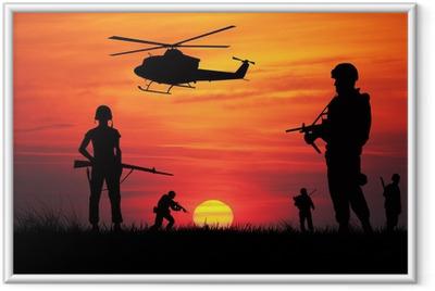 Ingelijste Poster Soldaten in oorlog