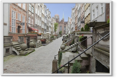 Mariacka Street in the Old Town of Gdansk, Poland Framed Poster