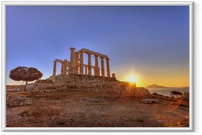 Poster en cadre Temple de Poséidon, Cap Sounion, Grèce - Thèmes