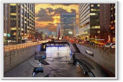 Downtown Seoul South Korea Cityscape Framed Poster