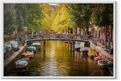 Gerahmtes Poster Der Amsterdamer Gracht