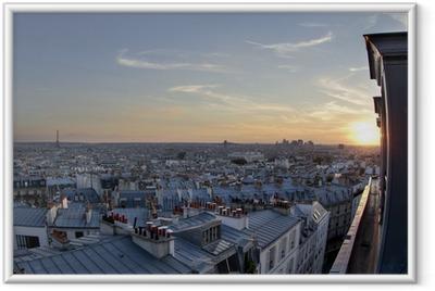 Ingelijste Poster Paris daken