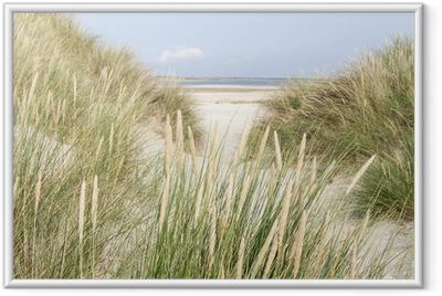 Gerahmtes Poster Sanddünen in den Niederlanden