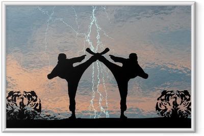Ingelijste Poster Karatethunder