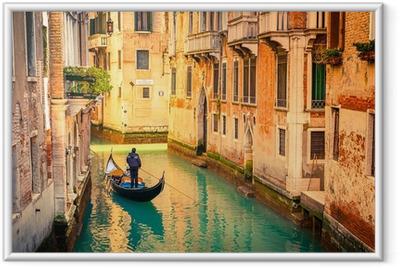 Ingelijste Poster Kanaal in Venetië