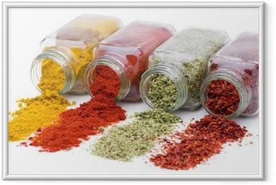 Poster en cadre Spice versant de jeu de bocaux d'épices