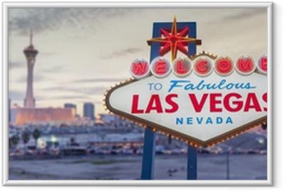 Gerahmtes Poster Willkommen in Las Vegas Zeichen
