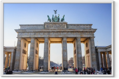 Brandenburg Gate in Berlin - Germany Framed Poster