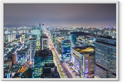 Seoul, South Korea Skyline Framed Poster