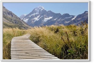 Plakat w ramie Ścieżka do Mount Cook w Nowej Zelandii