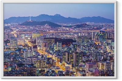 Poster en cadre Séoul Skyline - Thèmes
