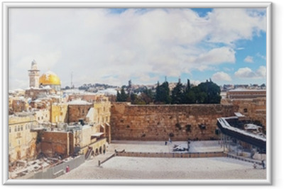 The Western Wall in Jerusalem, Israel Framed Poster