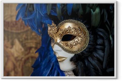 Venetian mask Framed Poster