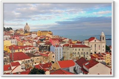 Multicolor houses of Lisbon Framed Poster
