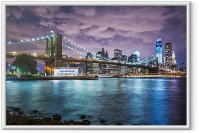 Ingelijste Poster De lichten van New York City