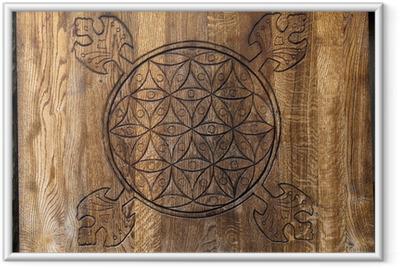 Poster en cadre La fleur de la vie - un ancien symbole de la géométrie sacrée