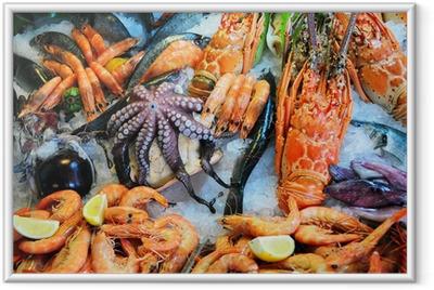 Ingelijste Poster Verse zeevruchten