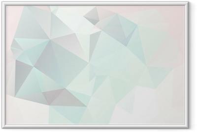 Gerahmtes Poster Weichen Pastell abstrakten geometrischen Hintergrund mit Farbverlauf Vektor
