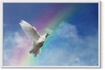 Ingelijste Poster Vrijheid, vrede en spiritualiteit