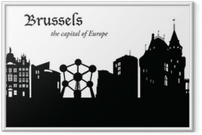Ingelijste Poster Brussel Cityscape