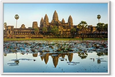 Poster i Ram Angkor Wat, Siem Reap, Kambodja.