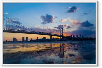 Panorama of Philadelphia skyline Framed Poster