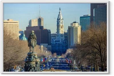 Philadelphia skyline Framed Poster