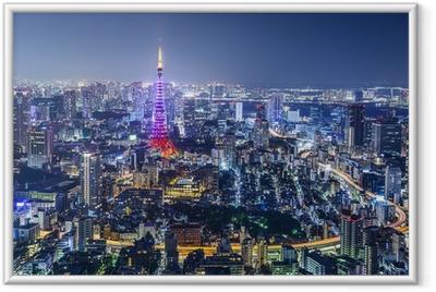 Plakat w ramie Tokio Japonia City Skyline