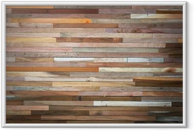 Poster en cadre Wood wall