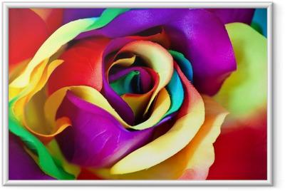 Poster en cadre Faux fleur rose