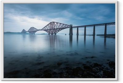 Çerçeveli Poster Edinburgh, İskoçya Forth köprüler