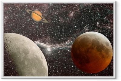 Gerahmtes Poster Leçon d'astronomie, les planètes