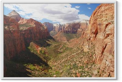 Poster en cadre Vue sur le canyon dans le parc national de Zion, Utah