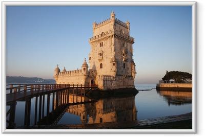 Poster en cadre Matin à la tour de Belém à Lisbonne - Thèmes