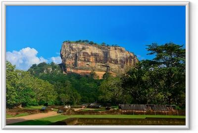 Gerahmtes Poster Felsenfestung Sigiriya