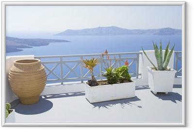 Gerahmtes Poster Terrasse mediterran