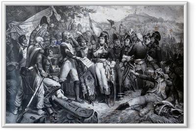 Poster en cadre Napoléon Bonaparte avec son armée à la bataille de Lodi