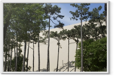 Ingelijste Poster Pyla zandduinen frankrijk
